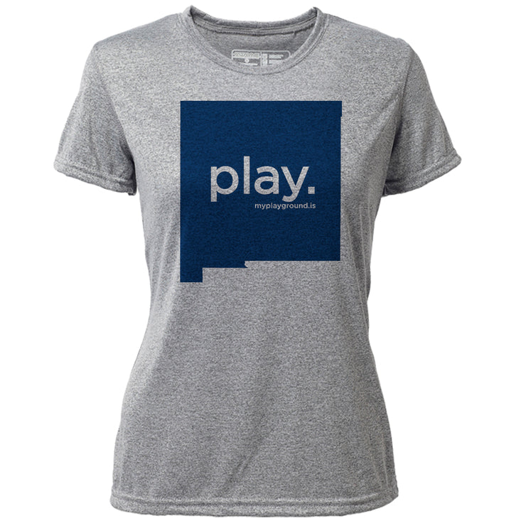 play. New Mexico + Womens SS Hybrid T