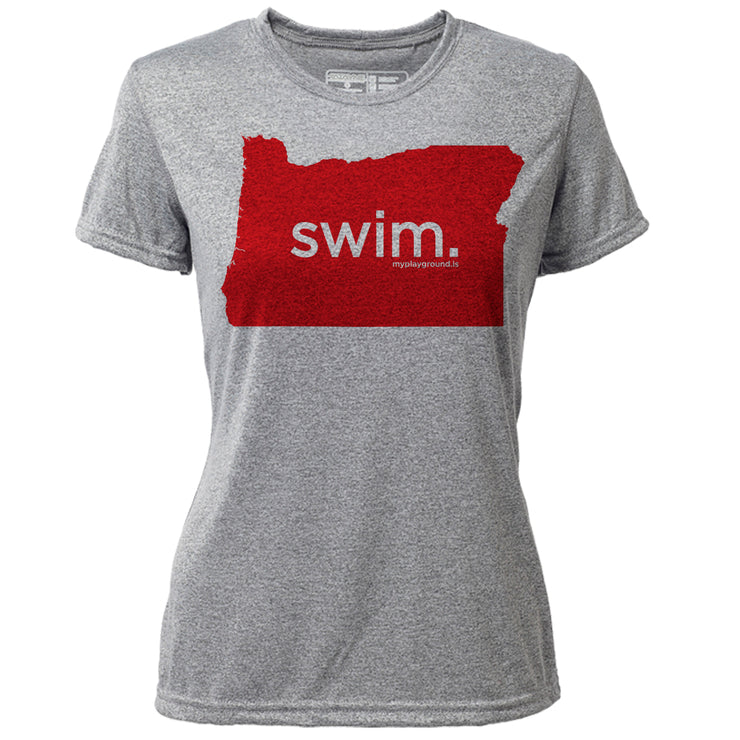 swim. Oregon + Womens SS Hybrid T