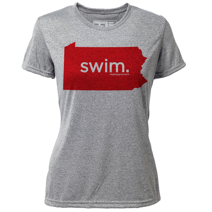 swim. Pennsylvania + Womens SS Hybrid T
