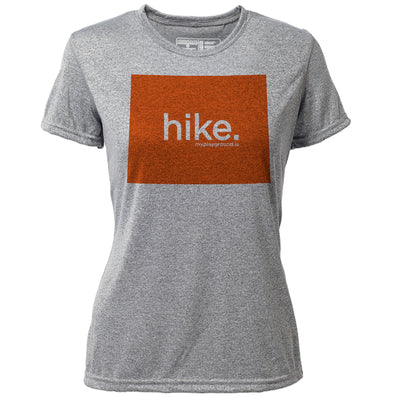 hike. Wyoming + Womens SS Hybrid T