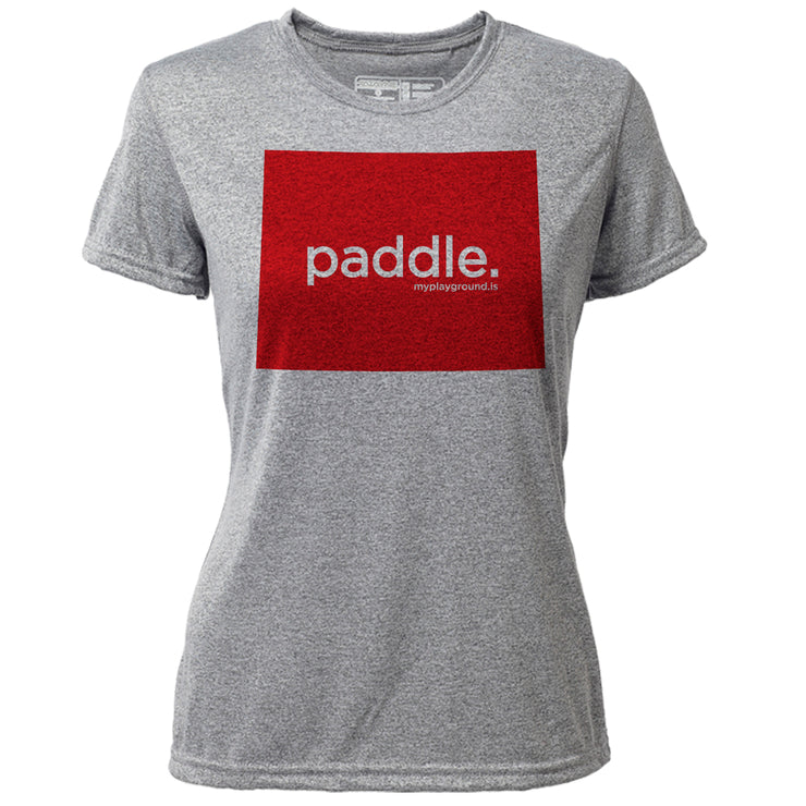 paddle. Wyoming + Womens SS Hybrid T