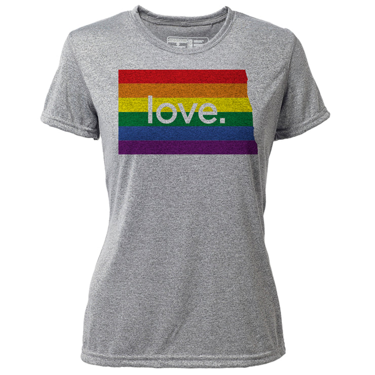 love. North Dakota + Womens SS Hybrid T