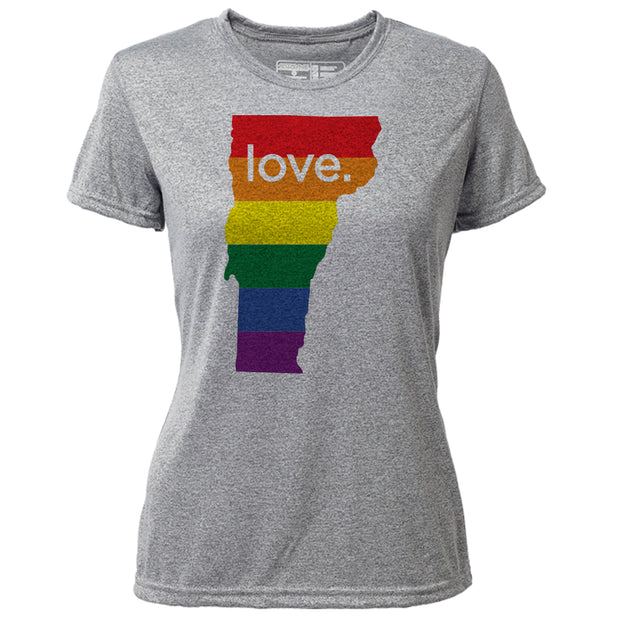 love. Vermont + Womens SS Hybrid T