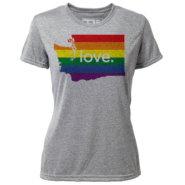 love. Washington + Womens SS Hybrid T