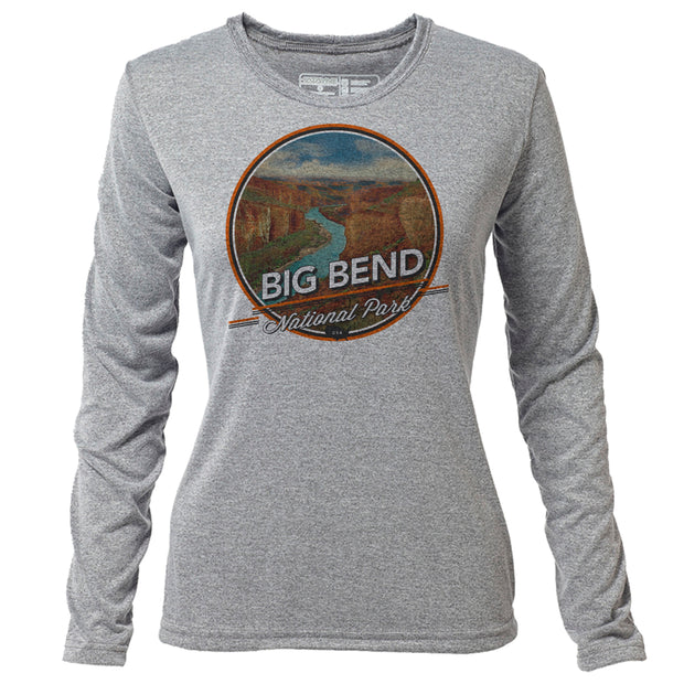 Big Bend + Womens LS Hybrid T