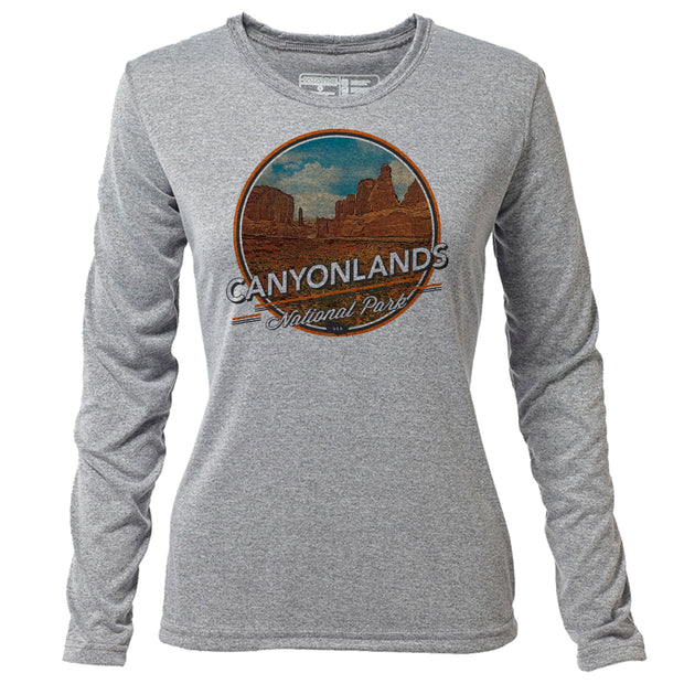 Canyonlands + Womens LS Hybrid T