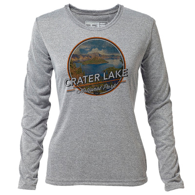 Crater Lake + Womens LS Hybrid T