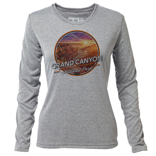 Grand Canyon + Womens LS Hybrid T