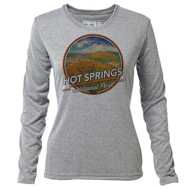 Hot Springs + Womens LS Hybrid T