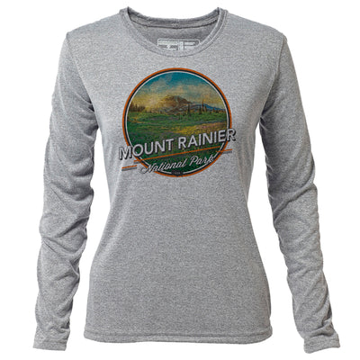 Mount Rainier + Womens LS Hybrid T