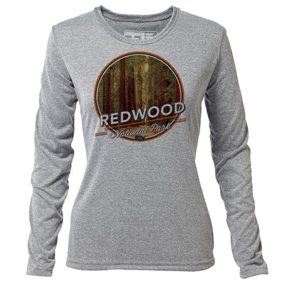 Redwood + Womens LS Hybrid T