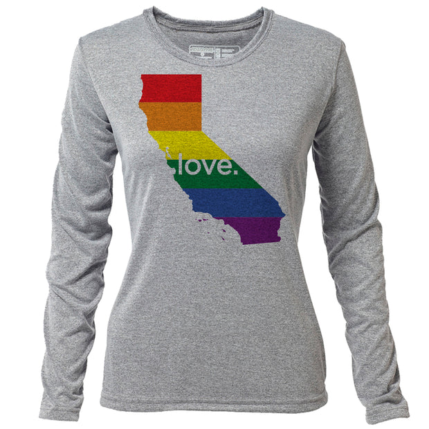 love. California + Womens LS Hybrid T