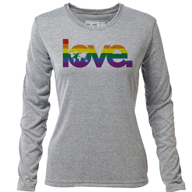 Global Love + Womens LS Hybrid T