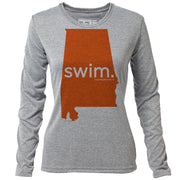 swim. Alabama + Womens LS Hybrid T