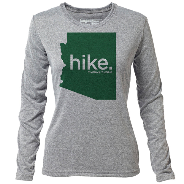 hike. Arizona + Womens LS Hybrid T