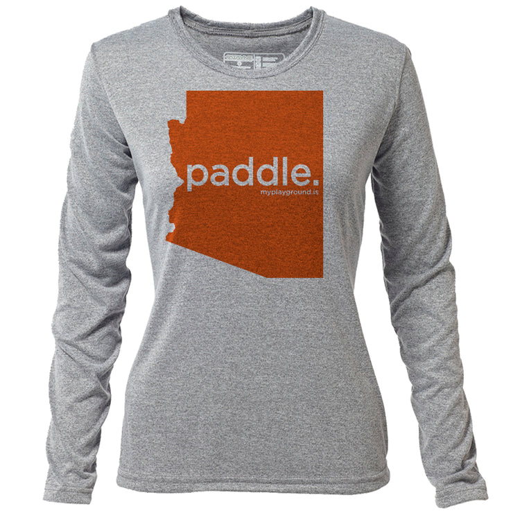 paddle. Arizona + Womens LS Hybrid T
