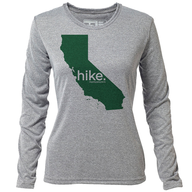 hike. California + Womens LS Hybrid T