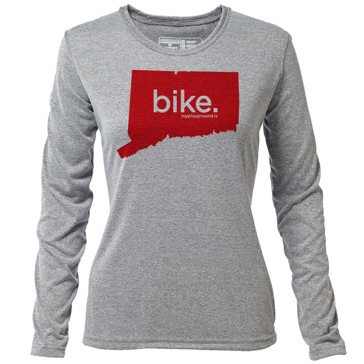 bike. Connecticut + Womens LS Hybrid T