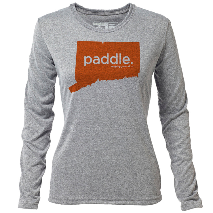 paddle. Connecticut + Womens LS Hybrid T