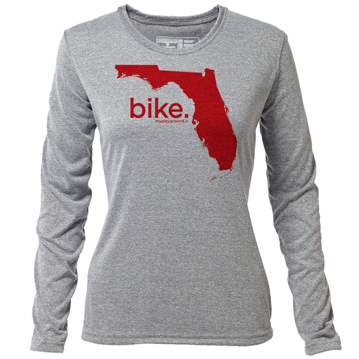 bike. Florida + Womens LS Hybrid T