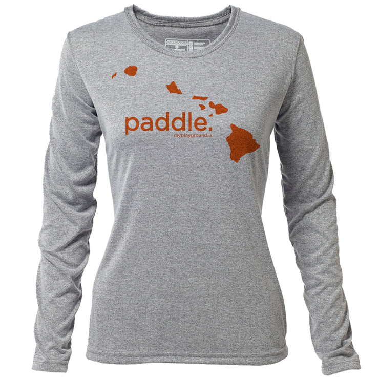paddle. Hawaii + Womens LS Hybrid T