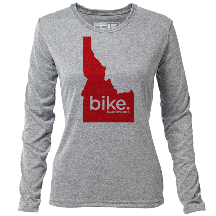 bike. Idaho + Womens LS Hybrid T