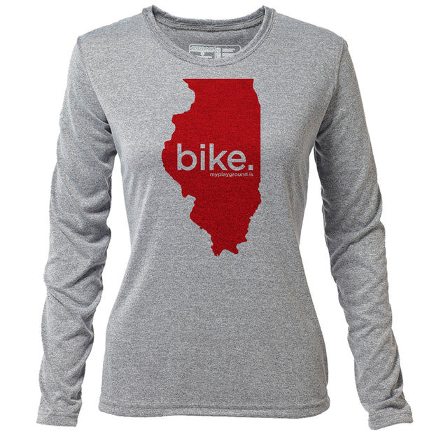 bike. Illinois + Womens LS Hybrid T