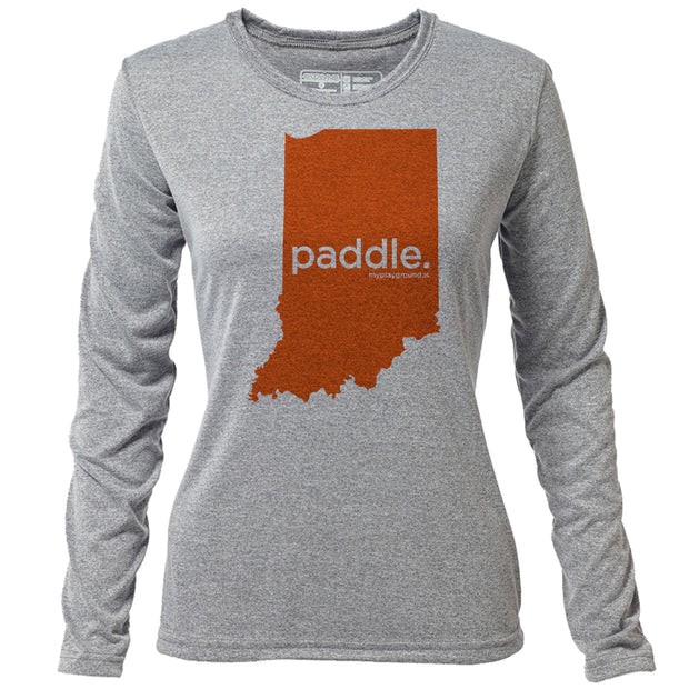 paddle. Indiana + Womens LS Hybrid T