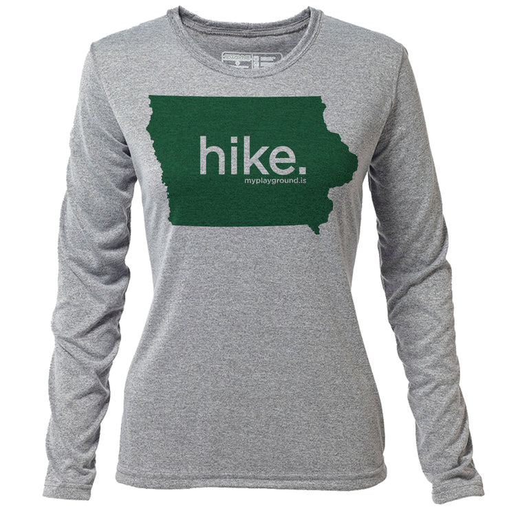 hike. Iowa + Womens LS Hybrid T