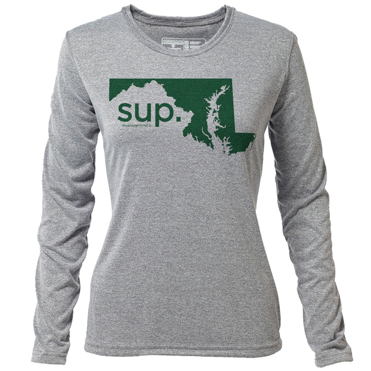 SUP. Maryland + Womens LS Hybrid T
