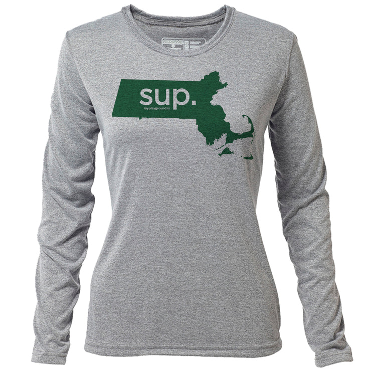 SUP. Massachusetts + Womens LS Hybrid T