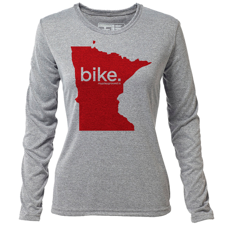 bike. Minnesota + Womens LS Hybrid T