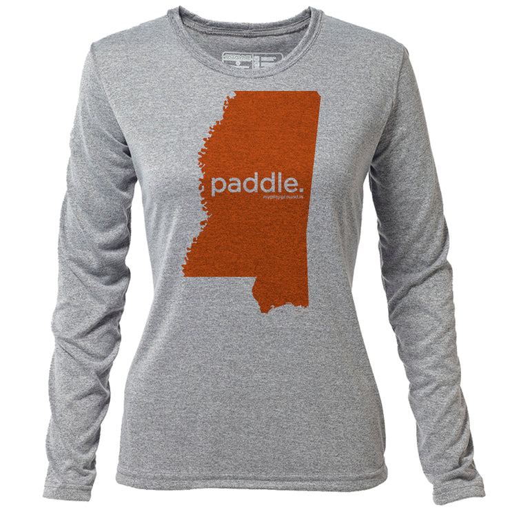 paddle. Mississippi + Womens LS Hybrid T