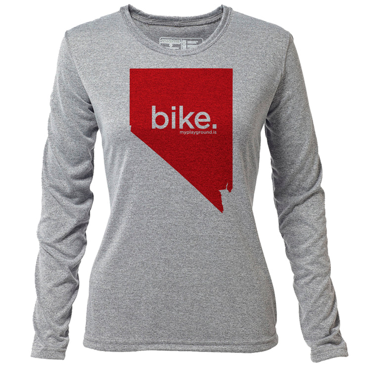 bike. Nevada + Womens LS Hybrid T