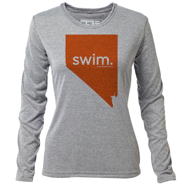 swim. Nevada + Womens LS Hybrid T