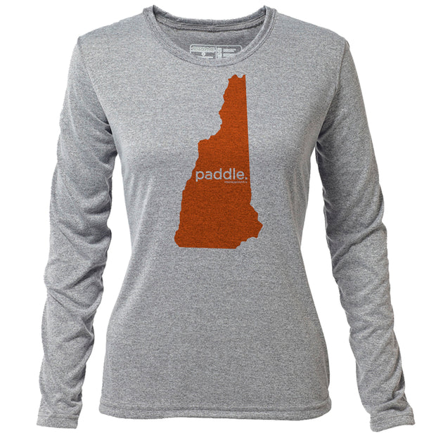 paddle. New Hampshire + Womens LS Hybrid T