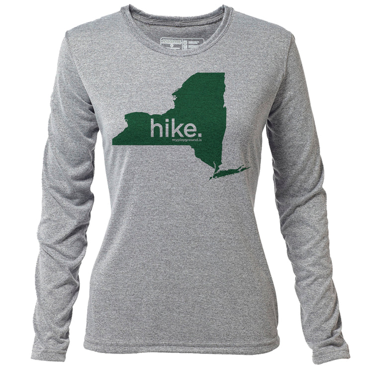 hike. New York + Womens LS Hybrid T