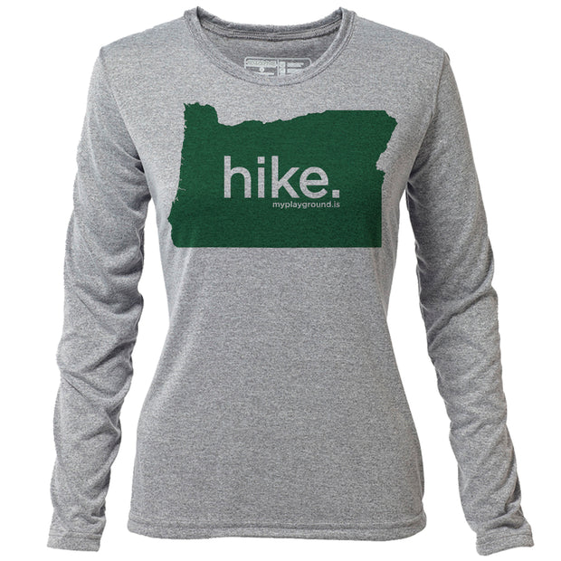 hike. Oregon + Womens LS Hybrid T