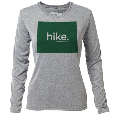 hike. Wyoming + Womens LS Hybrid T