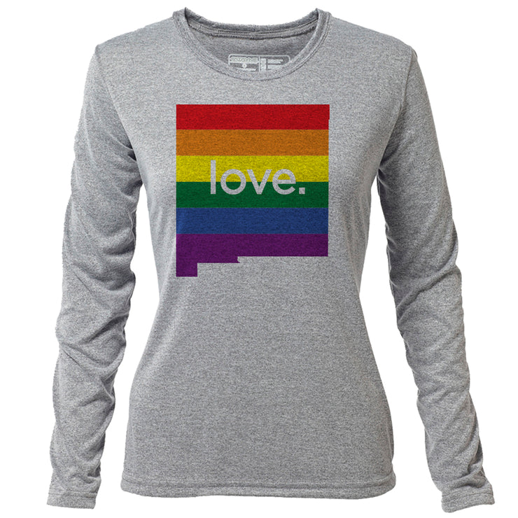 love. New Mexico + Womens LS Hybrid T