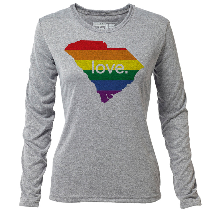 love. South Carolina + Womens LS Hybrid T