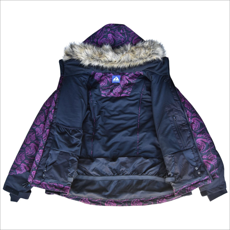 Snow Country Outerwear 1X-6X Womens Plus Size Flurry Hooded Ski Snow Jacket