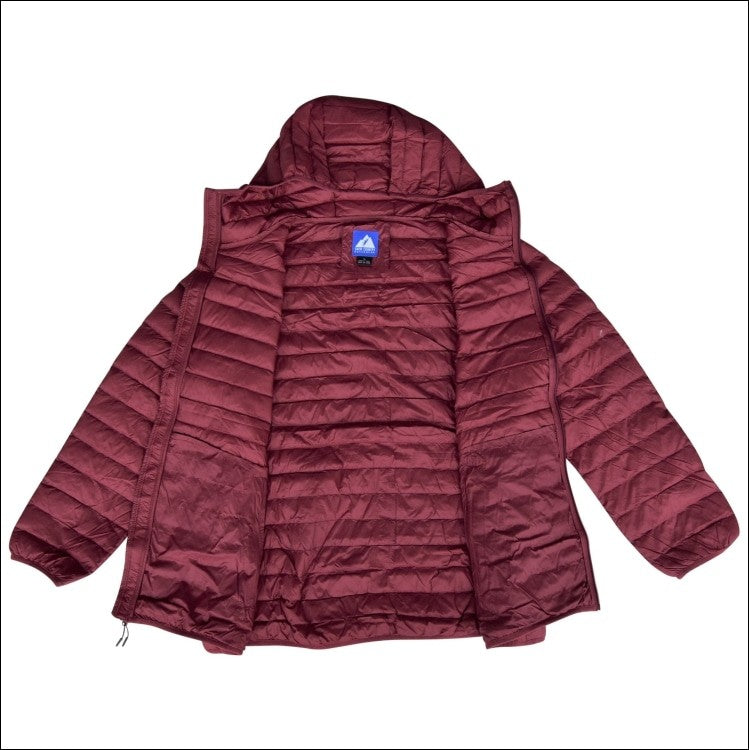 Snow Country Outerwear Plus Extended Size Packable Down Jacket Hooded Coat 1X-6X