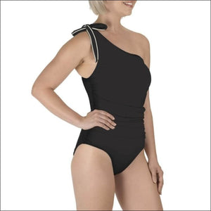 Carole Hochman Womens Shoulder Tie One Piece Swimsuit Black 8 10 12 14 - Swimsuits