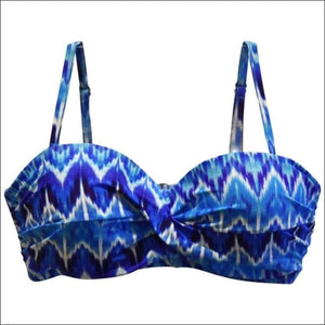 Heat Womens Bandeau Bikini Swimsuit Top D DD E F Cup - D Cup / Rhythm and Blues - Womens