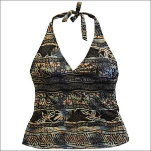 Heat Womens Halter Tankini Swimsuit Top S M L XL - Medium / Modern Tribe - Womens
