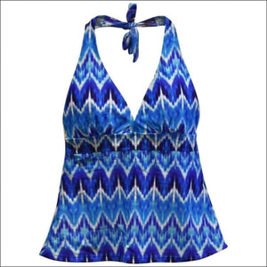 Heat Womens Halter Tankini Swimsuit Top S M L XL - Small / Rhythm and Blues - Womens