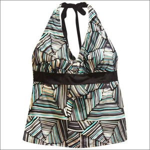 Heat Womens Plus Size Halter Tankini Swimsuit Top 18W 20W 22W 24W - 18W / High Tide - Womens