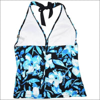 Heat Womens Plus Size Halter Tankini Swimsuit Top 18W 20W 22W 24W - Womens