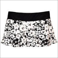 Heat Womens Plus Size Skirtini Swim Skirt Swimsuit Bottoms 18W 20W 22W 24W - 18W / Black White Floral - Womens